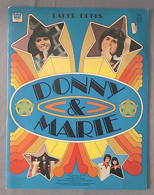 Vintage 1977 Whitman DONNIE & MARIE Osmond PAPER DOLL BOOK  * UNUSED *