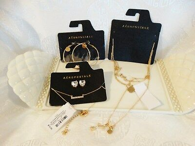 """New """"aeropostale"""" Jewelry Lot (4 Necklaces & 2 Pair Earrings)"""