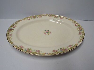 "Vintage Edwin M. Knowles China Co. Platter Dish Plate ""Hostess"" 15.5"" x 12"""