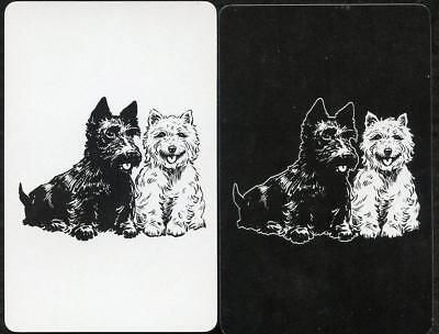 Swap Card Vintage X2 Puppy Dog Black And White Excellent Condition