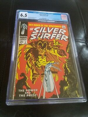 Silver Surfer #3 - 1st App of Mephisto - CGC Grade 6.5 - OW/W pages 1968
