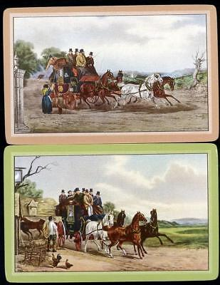 Beautiful Vintage Swap Cards Horses In The Country Mint Condition