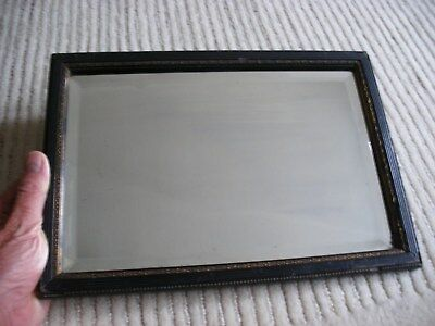 Antique Bevelled Edge Wall Mirror With Distress Georgian / Victorian Maybe Later