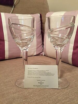 Pair Of Waterford Crystal Jasper Conran White Wine Glasses, Boxed