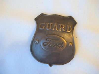 Solid Brass Guard Ford Badge Shield Pin Pinback Car Automobile Plant