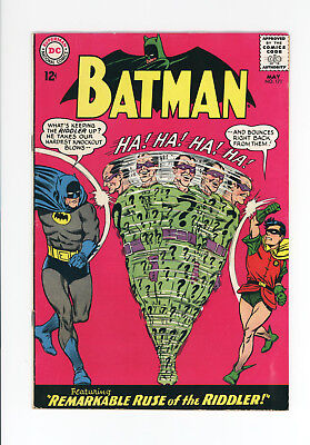 BATMAN #171 - NICE FN -1st SILVER AGE APPEARANCE OF THE RIDDLER - 1965