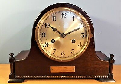 Antique Jahresuhren Fabrik, August Schatz & Sohne mantel clock, German made 1928