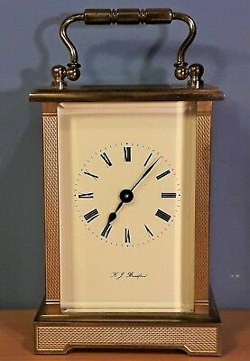 Vintage Good Quality Brass Carriage Clock by K.J. Bradford, Working order