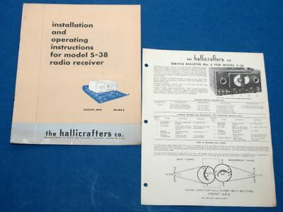 Hallicrafters S-38 Radio Receiver Instructions and Service Bulletin No. 2