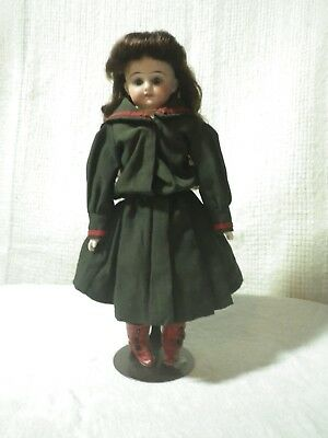 "Antique 10"" German shoulder head doll"