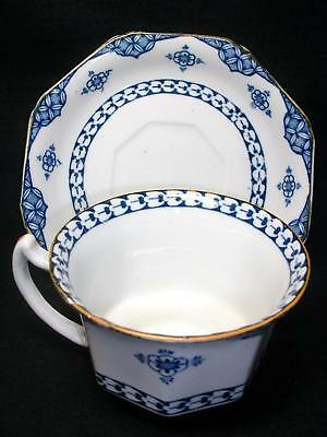 Vintage Cup & Saucer Enoch Wood & Sons Woods Ware England Blue Bombay