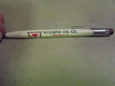 Vintage Mobil Mechanical Pencil Wolking Oil Co., Donnelly, Minn. Minnesota MN