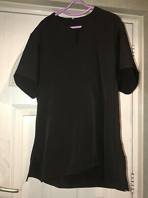 Ladies Size 24 Black Tunic By Salonwear - Hairdressing / Beauty Theropy Etc