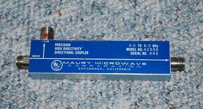 Maury Microwave Precision Directional Coupler Model 4033B, 4.0 to 8.0 GHz