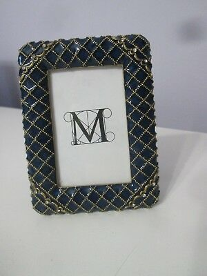 New Metropolitan Museum of Art MMA Picture Photo Frame Blue enamel W Crystals