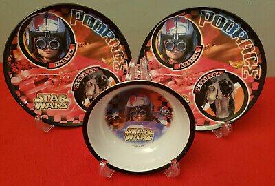 "NEW - STAR WARS ANAKIN & SEBULBA 8""  CHILD'S PLATE by ZAK DESIGNS - DISHWASHER"