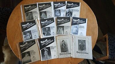 Vintage LOT POISSOT Doll Dress Patterns Doll Crafter Costuming UNCUT