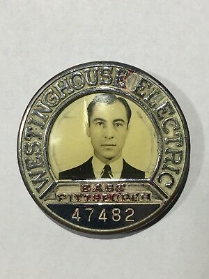 VINTAGE 1940's WESTINGHOUSE ELECTRIC EAST PITTSBURGH EMPLOYEE BADGE - RARE FIND