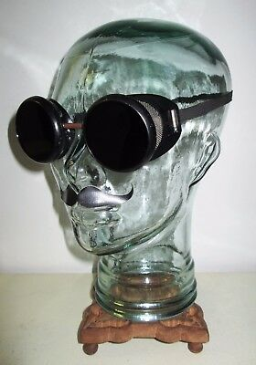 Antique Kimball Welding Goggles Safety Glasses Rockabilly VTG Retro Steampunk