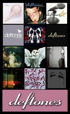 "DEFTONES album discography magnet (4.5"" x 3.5"") the cure korn alice in chains"
