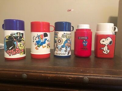 Vintage Lunch Box Thermos Lot of 5