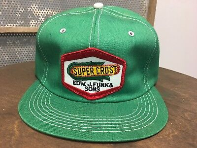 Vintage SUPER CROST SnapBack Trucker Hat Patch K BRAND Made In USA