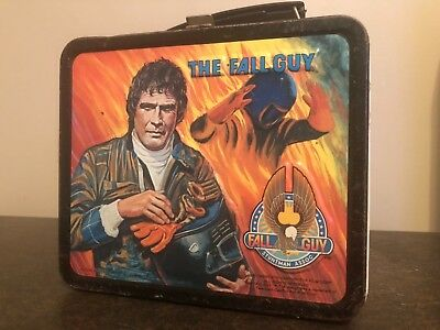 Vintage 1981 The Fall Guy Metal Lunch Box