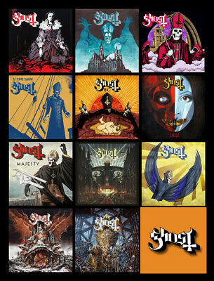 """GHOST album discography magnet (4.5"""" x 3.5"""") swedish metal band prequelle"""