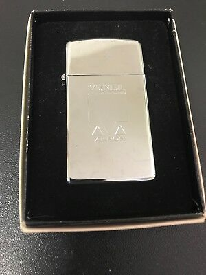 "vintage Zippo Slim lighter Mcneil Akron Logo With Box ""Looks Never Used"
