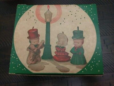Vtg 1950s Gurley Novelty Company Caroller Set Christmas Candles Excellent Cond.