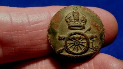 One Cannon Dug Old Artillery Button