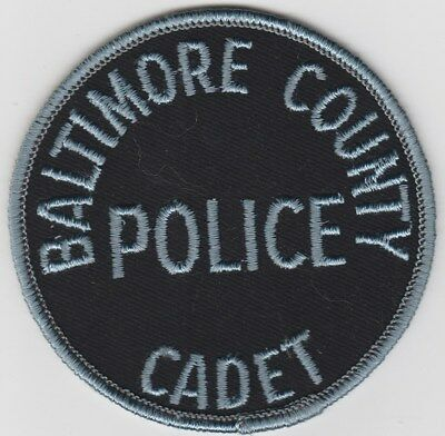 vintage Baltimore County, Maryland Police Cadet patch MD