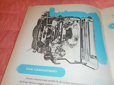 35mm Simplex X-L Projector Brochure Great Condition Fully Illustrated