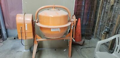 3-1/2 Cubic Ft. Portable Solid Steel Stucco, Mortar, Cement Mixer Free Ship!