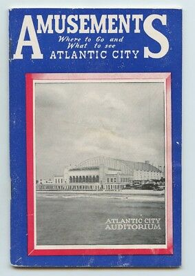 Atlantic City Amusements Where To Go And What To See Booklet From 1956