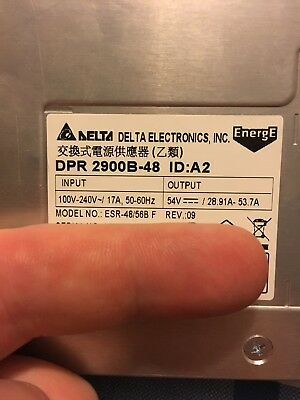 Delta Electronics DPR2900B-48 Power Rectifier. US Seller. Fast Shipping.