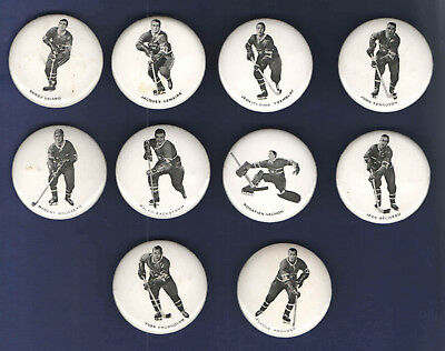 1970-72 Montreal Canadiens Pin-Back Buttons lot of 10 different  NHL HOCKEY
