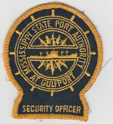 vintage Mississippi State Port Authority at Gulfport ~ Security Officer patch MS