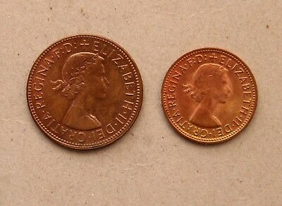 1964 penny and half penny set - higher quality coins (R)