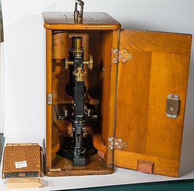 Bosh and Lomb Vintage Microscope with wooden case