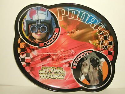 "Zak Designs Star Wars 8"" CHILD`S PLASTIC PLATE PodRace Anakin Sebulba"