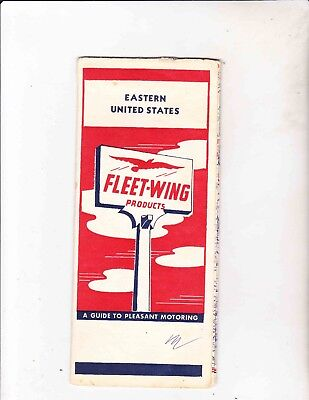 Vintage Map ---1950's Fleet-Wing---Eastern United States Map