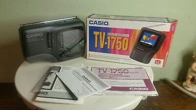 CASIO TV-1750B LCD Handheld Color Television TV Portable M.I.B