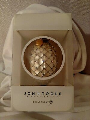 John Toole Collection Christmas Ornament! So Beautiful!~A Rare Find!!!~Dept. 56~