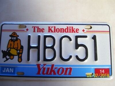 Yukon Territory Canada, The Klondike license plate 2014
