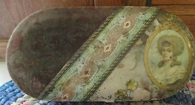 Antique Victorian velvet and celluloid box cuffs and collors