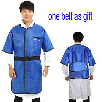 0.35mmpb X-ray Protection Lead Apron Shield Vest Half Sleeves With Belt S Size