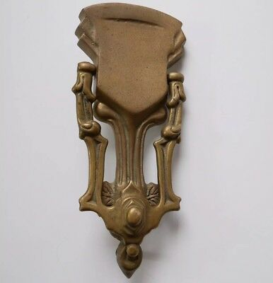 "Vintage Antique Style Brass Door Knocker Heavy 8.5"" Long"