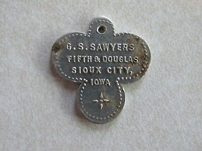 Advertising Store Token Aluminum G S Sawyers Sioux City Iowa IA Trade 2 1/2 cent