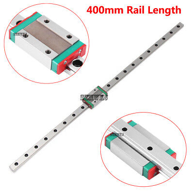 MGN12H 400mm Mini Linear Slide Rail Guide + Sliding Block for CNC 3D Printer DIY